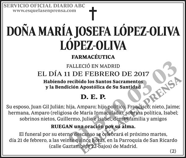 María Josefa López-Oliva López-Oliva